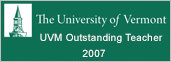 UVM Outstanding Teacher 2007